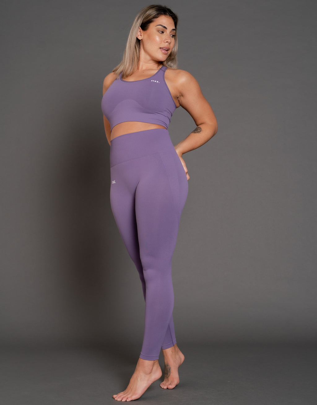 STAX. Premium Seamless V3 Full Length Tights - Amethyst (Purple)