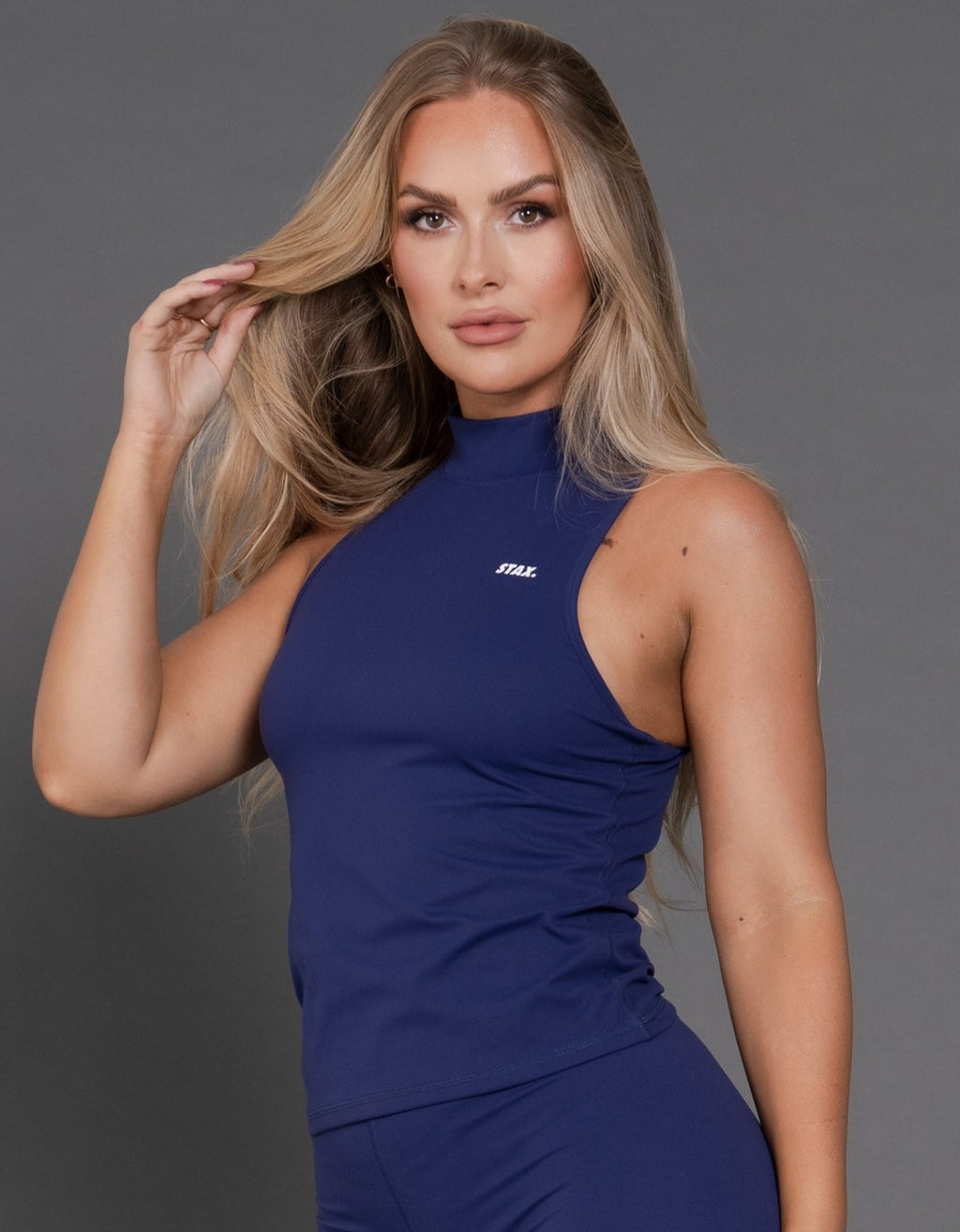 STAX. BB High Neck Body Tank - Royal Navy