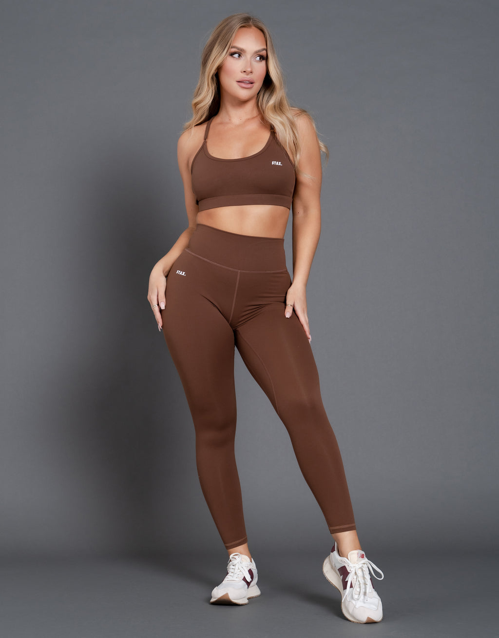 STAX. Originals Tights Full Length - Raw Umber (Brown)