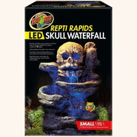 Reptile Tank Decoration - Skull Water Fall - Free Shipping