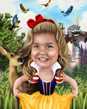 Custom Snow White Portrait / Snow White Party Ideas / Snow White Birthday / Snow White Party Invite / Snow White Invitations