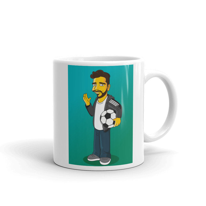 Soccer coach mug with custom cartoon portrait, soccer coach cup, soccer player mug, coach thank you cup, soccer mug, football coach mug