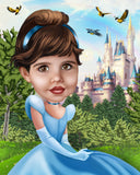 Custom Cinderella Portrait / Cinderella Party Ideas / Cinderella Birthday / Cinderella Party Invite / Cinderella art