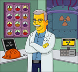 Nuclear Engineer Gift  - Custom Portrait from Photo as Yellow Cartoon Character / nuclear physics