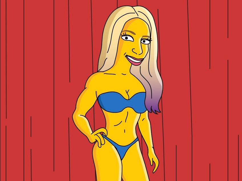Female Bodybuilder Gift - Custom Portrait as Cartoon Character / fitness competition / figure competition bikini