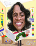 Teacher Retirement gift - custom caricature from photo / teacher happy retirement / retirement gifts for teachers / teacher leaving gift