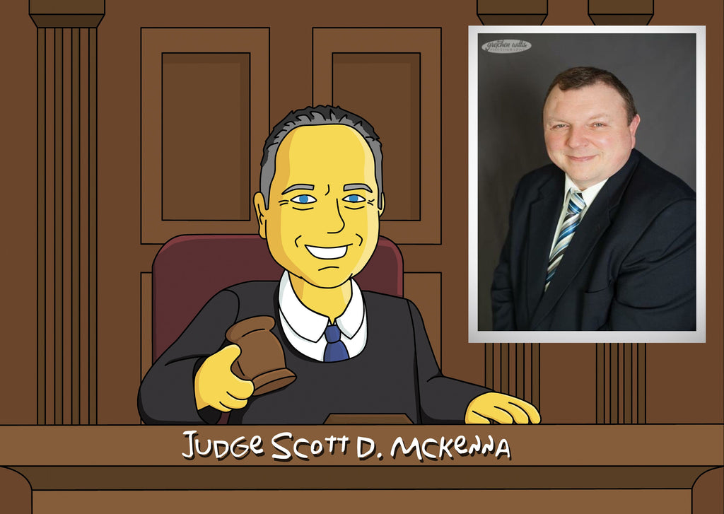 Judge Gift  - Custom Portrait as Yellow Cartoon Character / Gift For Judge / Judge Gift Idea / Judge Cartoon / Judge Caricature