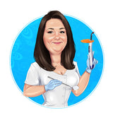Dentist Logo - custom portrait for your business logo