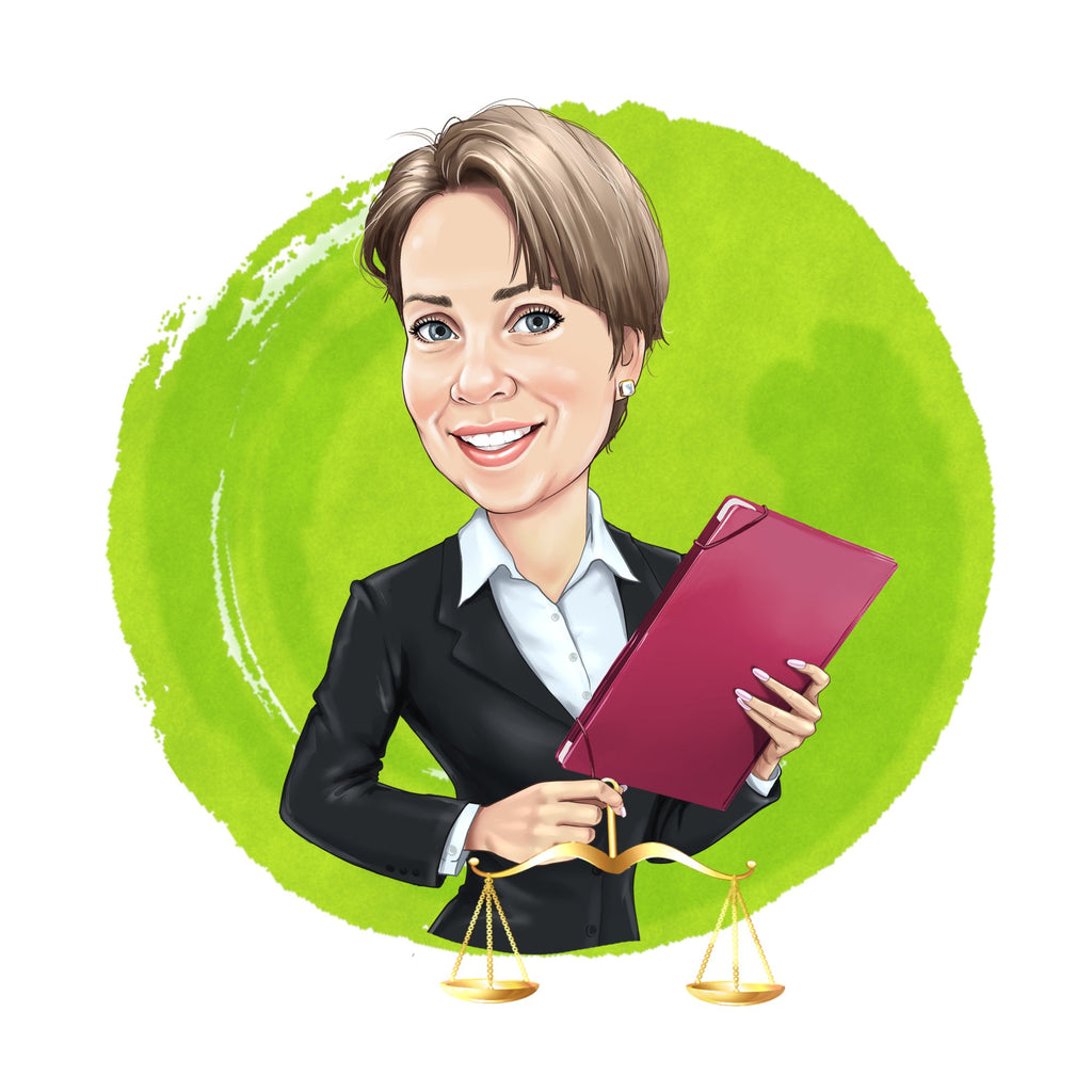 Lawyer Logo - custom portrait for your business logo / attorney logo