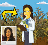 Agronomist Gift - Custom Portrait from Photo as Yellow Character