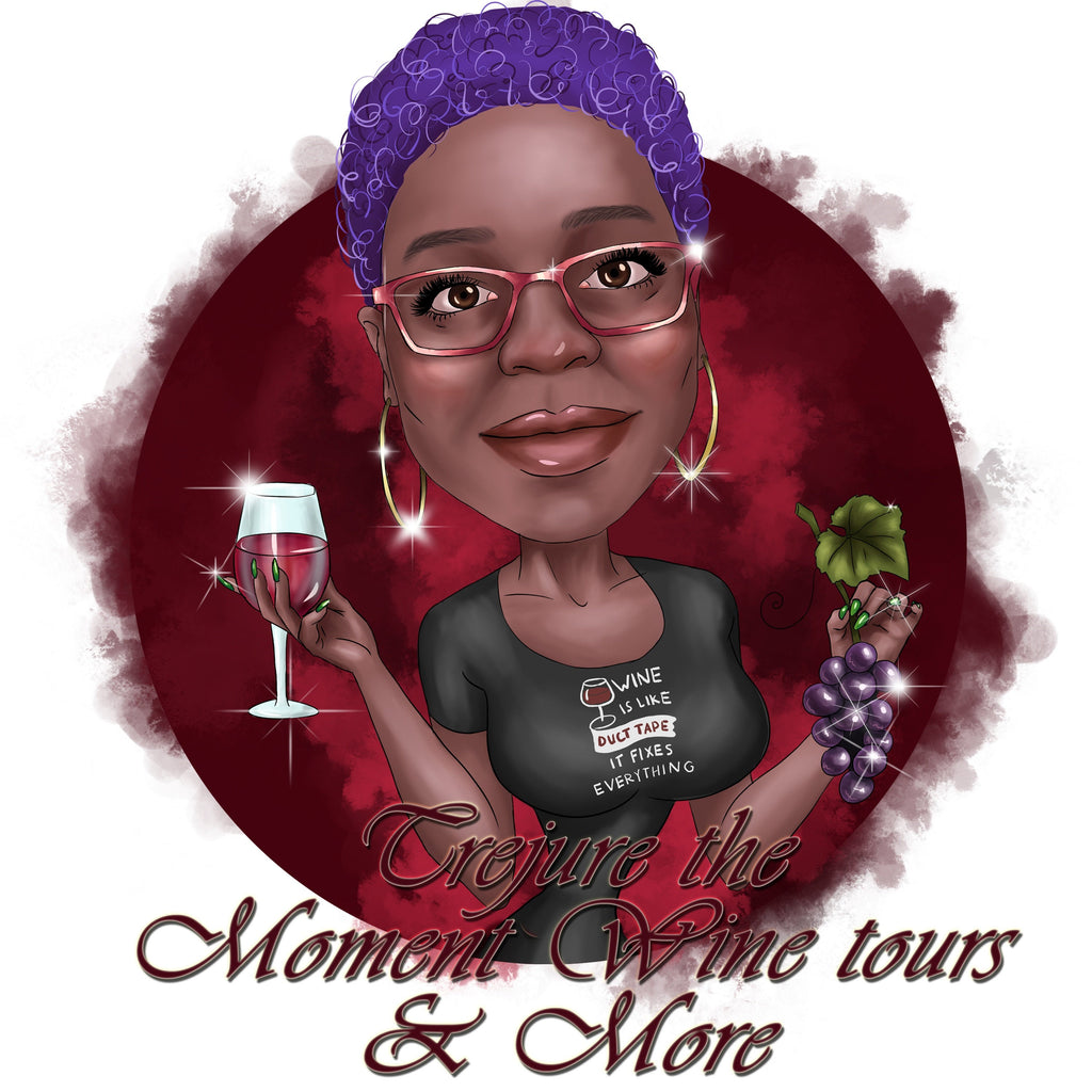 Winery Logo Design - custom portrait logo for your business / wine tours logo
