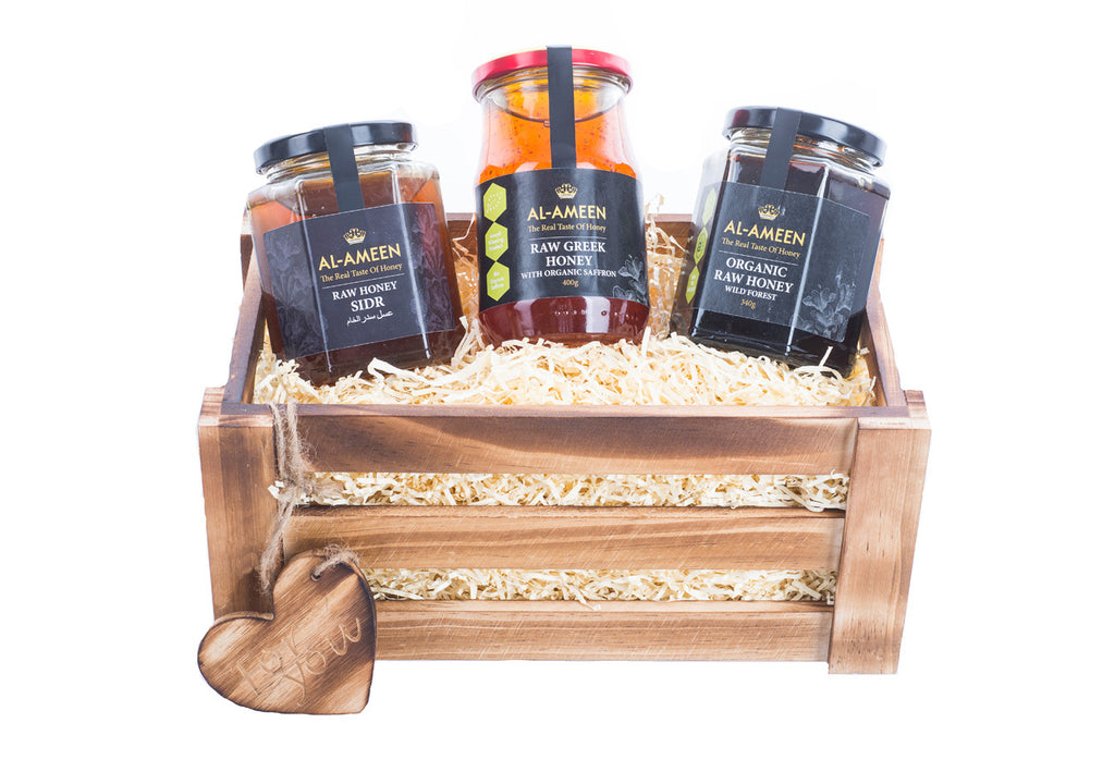 Honey (3 Flavours) Solid Pine Small Crate