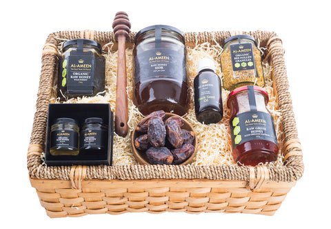 Large Gift Selection Basket of Honey & Medjoul Dates