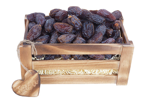 Medjoul Dates in Solid Pine Crate