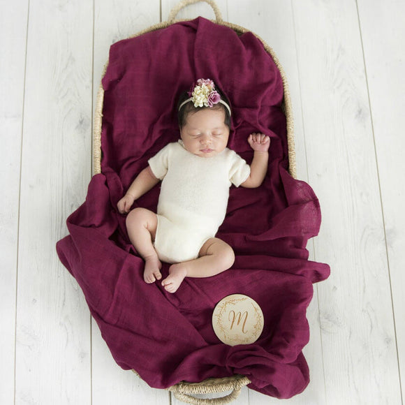Snuggle Hunny Kids Organic Muslin Swaddle Wrap- Ruby