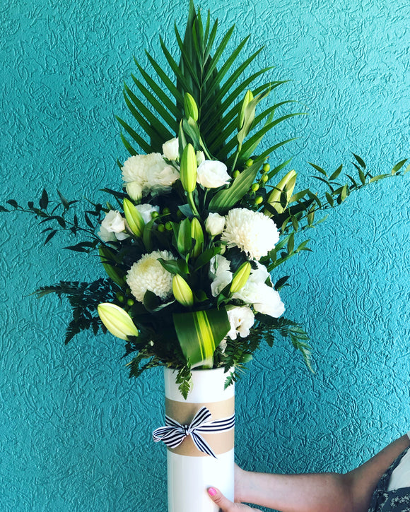 Large White Vase Arrangement
