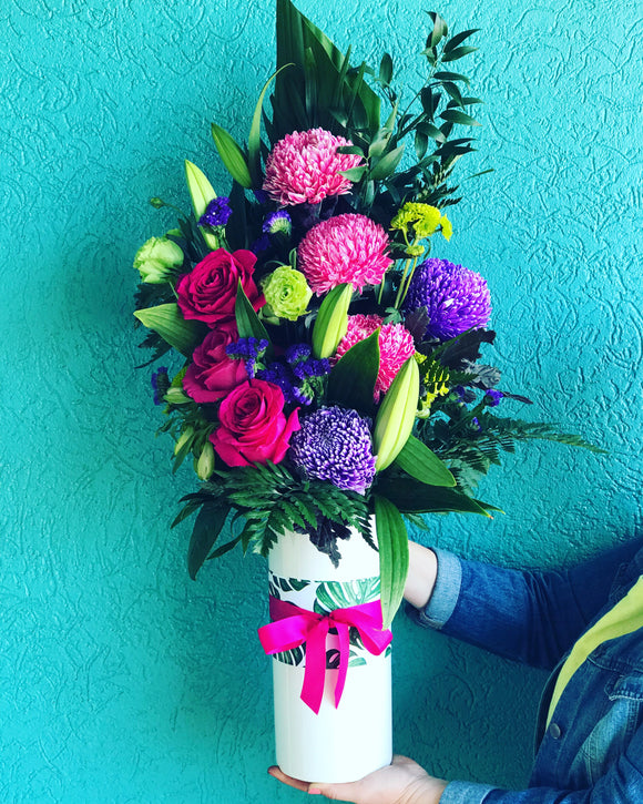 Pink & Purple Vase Arrangement