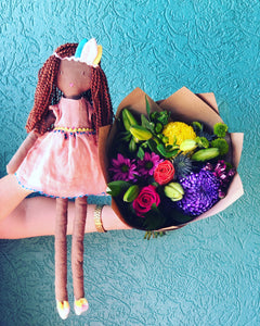 Boho Baby - Flowers and a Doll