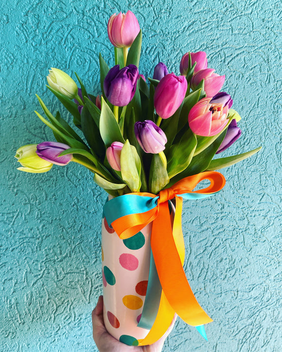 Jones & Co Vase with Tulips