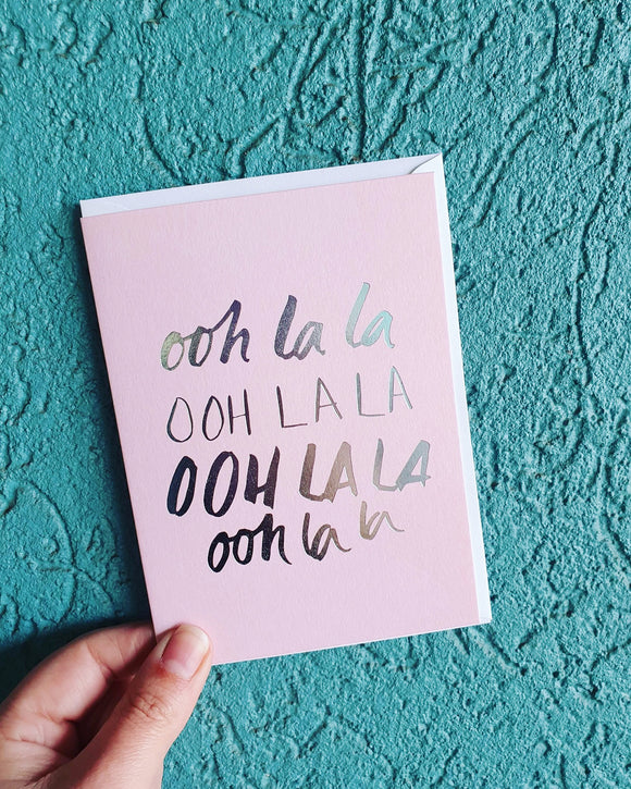 Ohh Lala Greeting Card