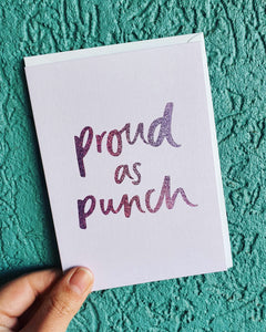 Proud as Punch Greeting Card