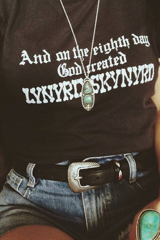 """And on the Eighth Day, God Created Lynyrd Skynyrd"" Mens Tee"