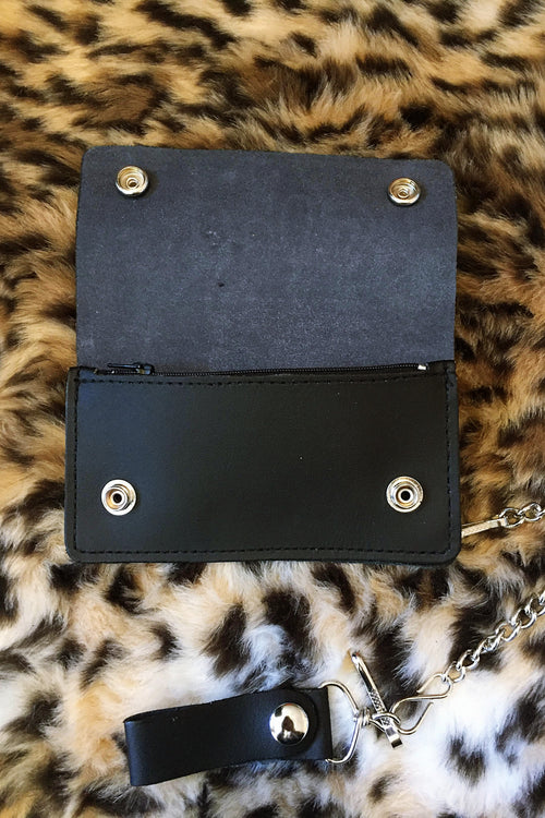Fire Starter Chained Leather Wallet