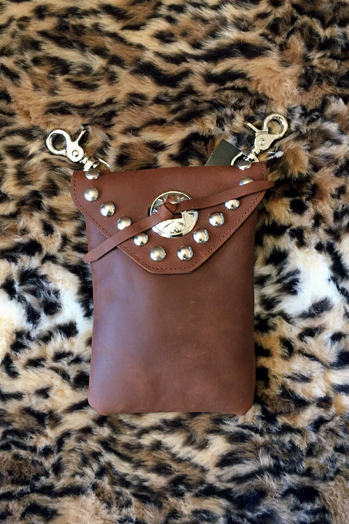 Leather & Concho Hip Bag