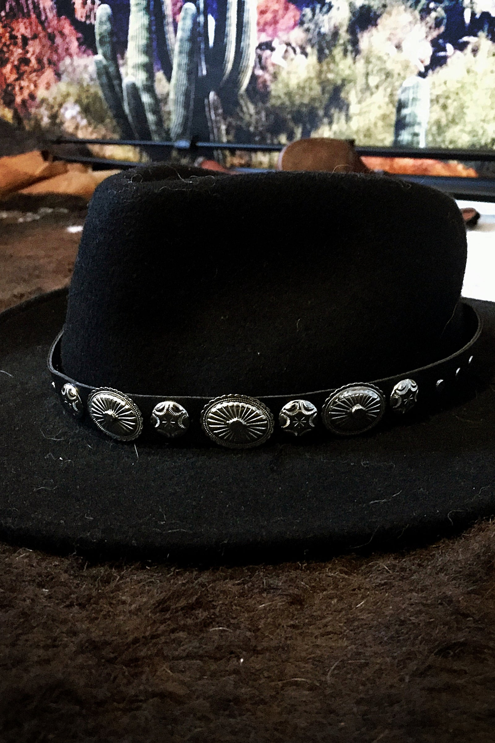 Leather and Concho Hatband