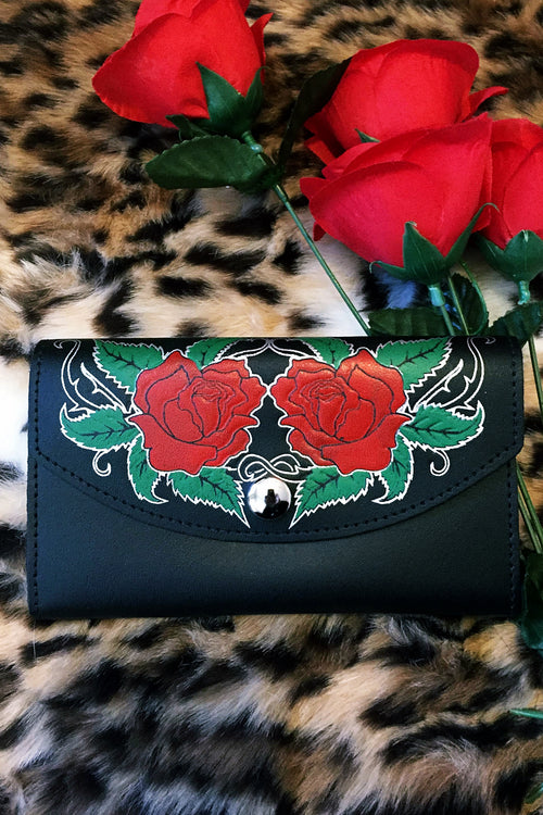 Ramblin Rose Leather Wallet (Last One)