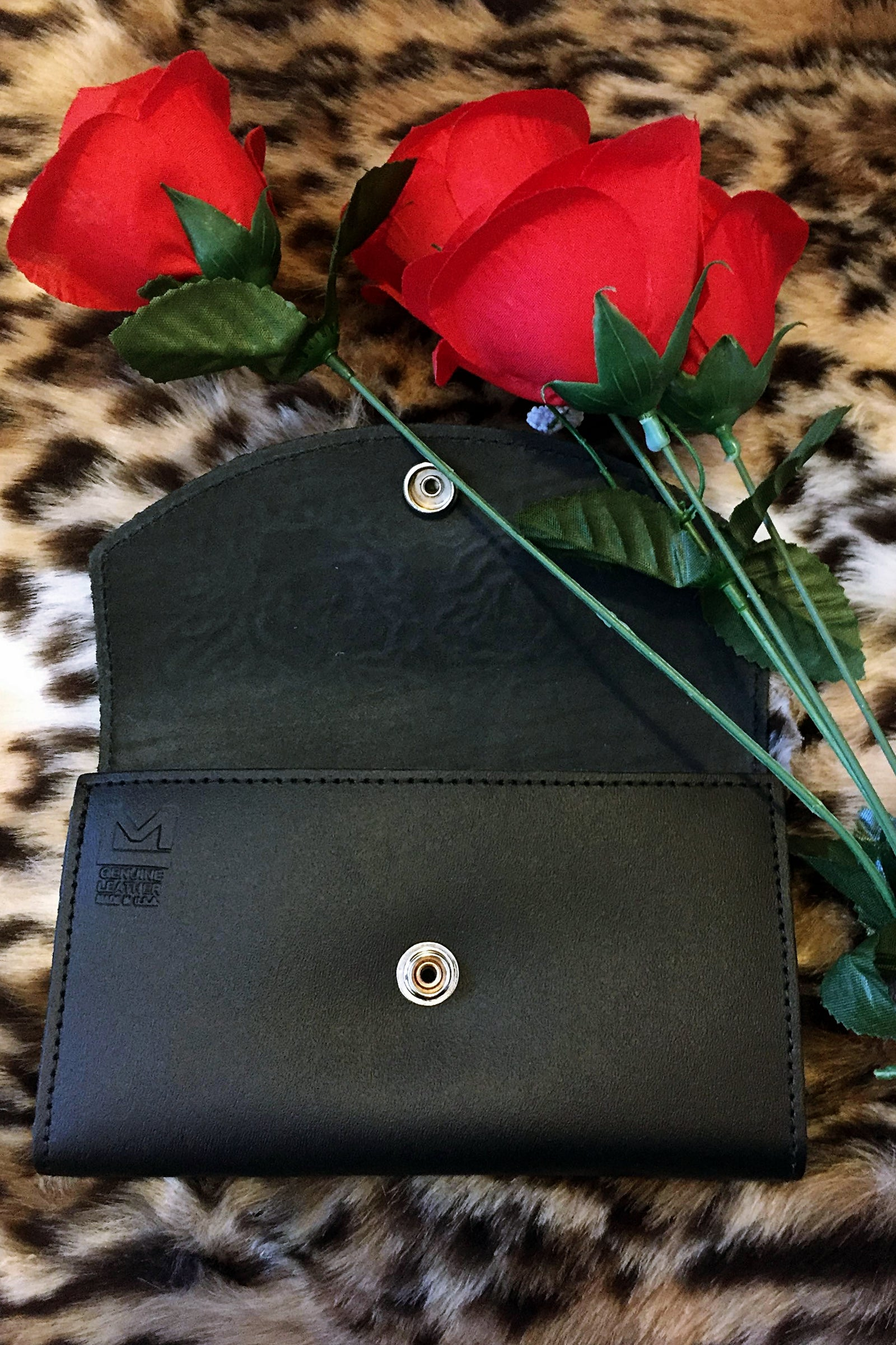 Ramblin Rose Leather Wallet