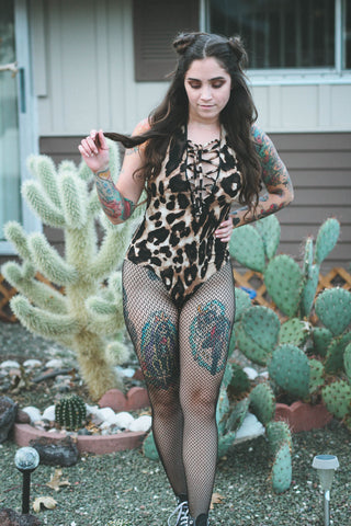Vixen Lace Up Bodysuit