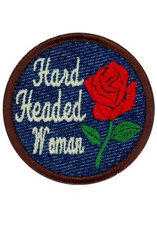 Hard Headed Woman Patch (Red)
