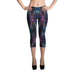 Body Painted Aparel - Capri Leggings - Silly Bird