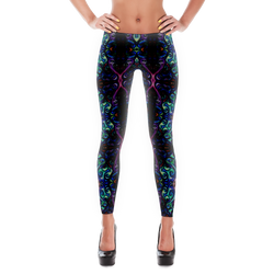 Body Painted Leggings - Silly Bird