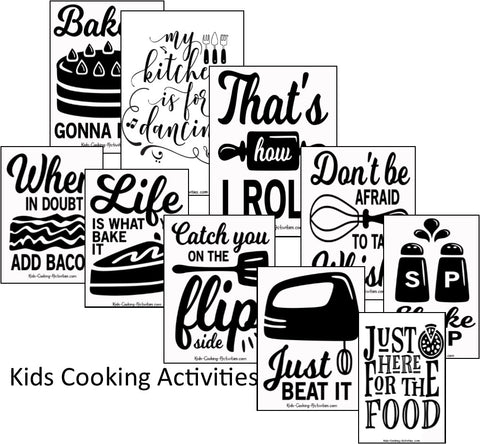 Kitchen Fun Posters - Play on Word Kitchen Theme Posters