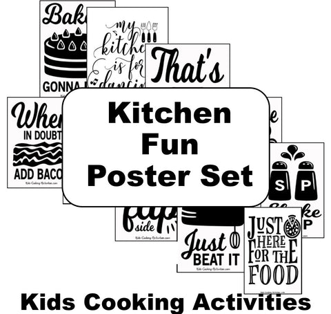 20 Kitchen Fun Posters - Play on Word Kitchen Theme Posters