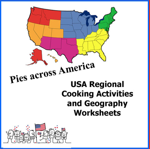 USA Regional Cooking Activities and Geography Camp
