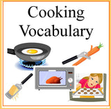 Cooking Vocabulary Terms Worksheets