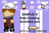 Printable Kids Cooking Party Invitation -Birthday Chef Theme