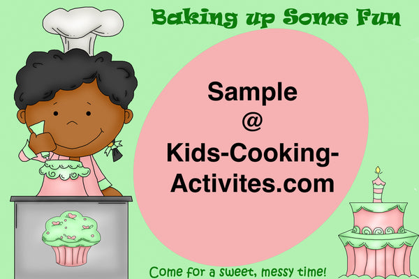 Printable Kids Cooking Party Invitation Baking Theme Activities
