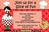 Printable Kids Cooking Party Invitation - Pizza Party Theme