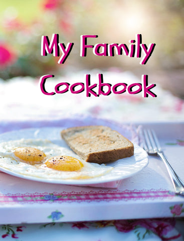 The Blank Cookbook or Recipe Binder for collecting your family recipes over 100 pages
