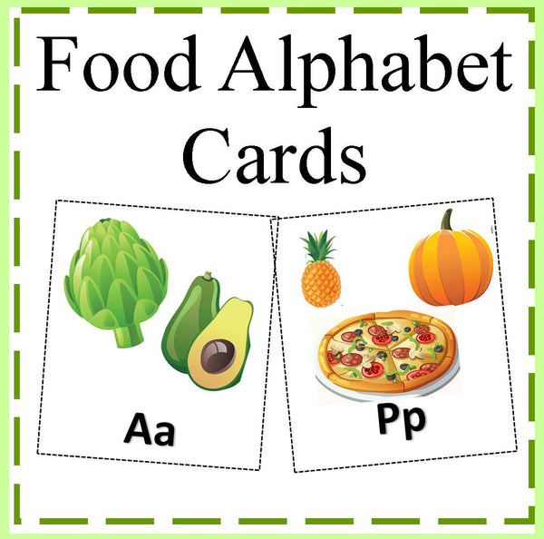 Kitchen Poster Food As Alphabet With Food Name: Kids Cooking Activities
