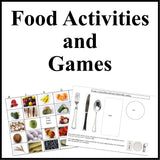 Food Bingo Games and Worksheets