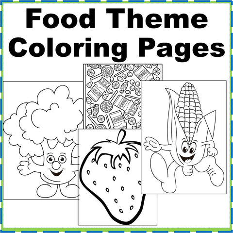 Food Theme Coloring Pages