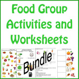 Food Group Worksheets Bundle Set