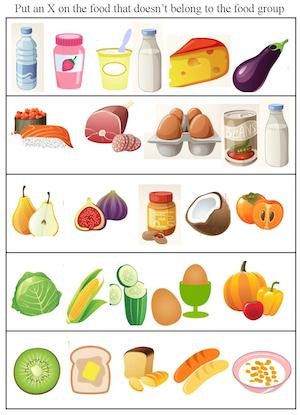 Printables. Food Groups Worksheets. Gozoneguide Thousands of ...