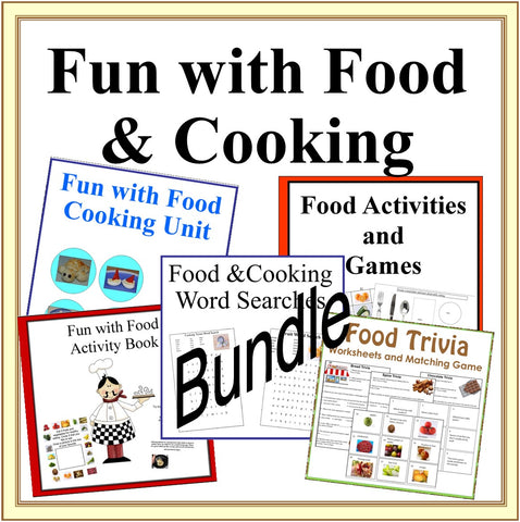 Fun with Food Cooking Theme 5 Book Bundle