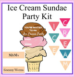 The Ultimate Ice Cream Sundae Party Kit-Printable Kids Cooking Party Invitation and Ice Cream Party Kit
